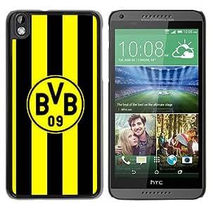 New Fashion Custom Designed Skin Case For HTC Desire 816 With Dortmund Black Phone Case 4