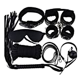 Bepety Bondage Kit Set Restraints Handcuffs Rope Mask Collar Whips Ball Blindfolds