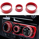 Xotic Tech 3pcs Red Aluminum Air Condition Switch
