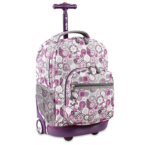Rolling Backpack Friends (J World New York Sunrise Rolling Backpack, Lemon, One Size)