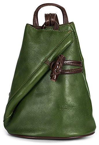 protectora mochila Verde suave de mujer pequeño amp; con LiaTalia BRADY para Marrón piel bolsa Tamaño Pequeña wqOT45z