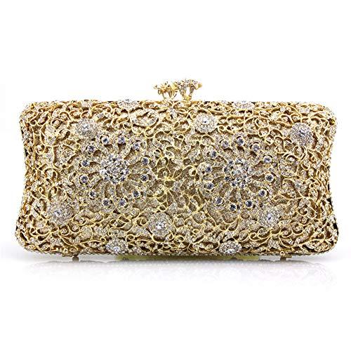 Soirée Pochette C B Brille à de Sacs soirée soirée Bal Luxe Main de Parti Et Bridal Incrusté de fériés Sac d'autres 7x4inch Diamants Jours 19x10cm 4ZvSS