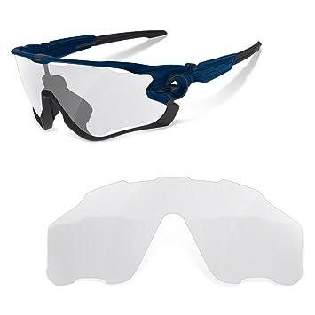 sunglasses restorer Lentes de Recambio Transparentes para Oakley Jawbreaker | Lentes Ideales para Ciclismo | Específicas para Usar en Condiciones de Baja ...