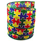 Autism Awareness Puzzle Satin Wired Ribbon #40 - 2.5in x 10yards