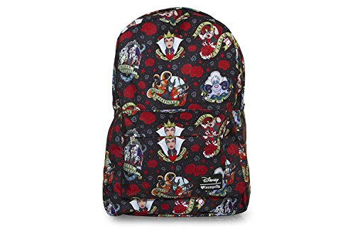 Loungefly Disney Villains Roses And Hearts Print Backpack