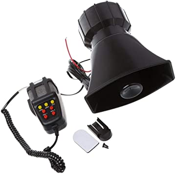 7 Tone Sound Loud Car Siren Vehicle Horn Hooter//Ambulance//Siren//Traffic Sound with Black Remote Controller 12V 100W