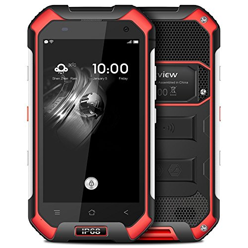 Blackview BV6000 4,7 Zoll 4G Smartphone Android 7.0 MTK6755 64bit Octa Core 2,0GHz 3GB RAM 32GB ROM 5MP + 13MP Kameras IP68 Wasserdichtes Corning Gorilla Glas 3 NFC (Schwarz)