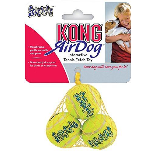 Air Kong Squeaker Extra Small Tennis Ball – 6 Count