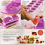 2 X Tupperware Pure & Fresh Unique Covered Cool Cubes Ice Tray in Purple With Opening Lid Contain 14 Cubes - HerbalStore_24*7