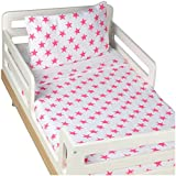 aden + anais Classic Toddler Bed in a Bag - Fluro Pink Kids Bedding Sets: Toddler Bedding, Toddler Pillow, Cotton Blanket