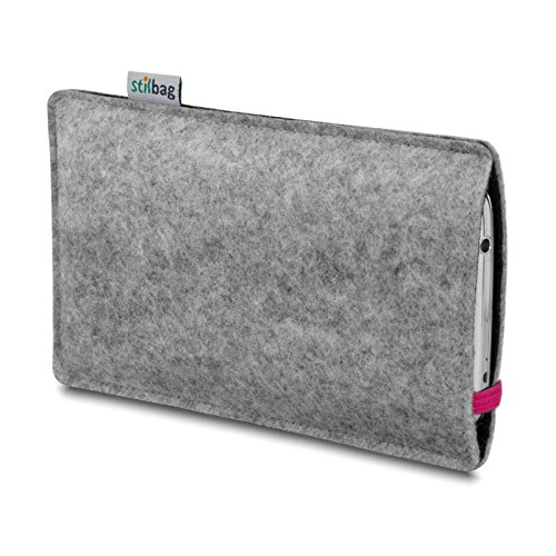 Stilbag Etui Feutre 'LEON' pour Apple iPhone 3Gs - Couleur: pink-gris