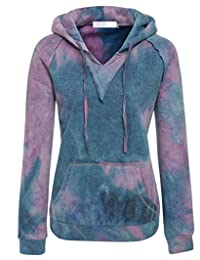 "Littlebee Women ""Gradient Color"" Hoodie Kangaroo Pocket Long Sleeve Pullover Sweater"