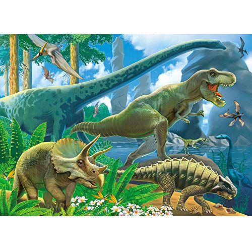 Brainy Zebra Planet of The Dinosaurs Instructive Jigsaw Puzzle for Children | Fun & Entertaining Toys for Kids | Epic Birthday for Boys & Girls | 60 Pieces (26cm x 36cm) ()