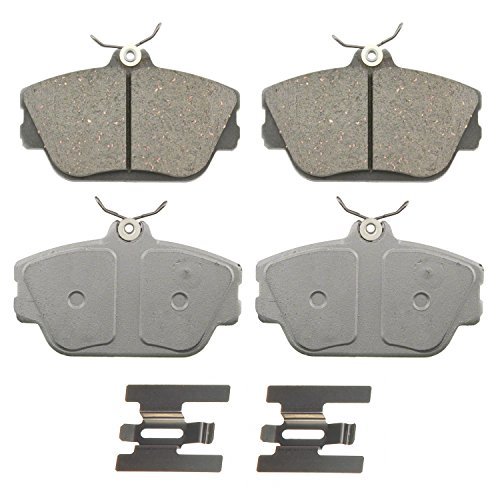 Wagner ThermoQuiet QC598 Ceramic Disc Pad Set With Installation Hardware, Front