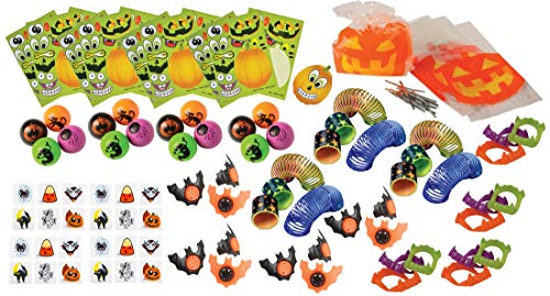 100 Piece Bulk Halloween Party Favor Bundle Assortment Pack of Toys for Kids Parties, Pinatas, Trick or Treat, Classroom or Carnivals ()