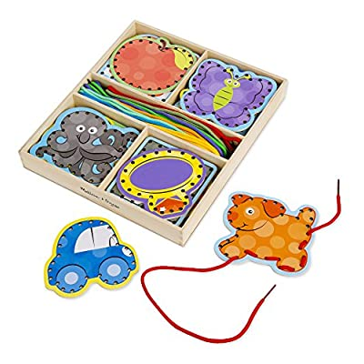 Melissa & Doug Alphabet Wooden Lacing Cards With Double-Sided Panels and Matching Laces: Melissa & Doug: Toys & Games