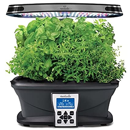 Miracle Gro AeroGarden Extra LED Indoor Garden With Gourmet Herb Seed Kit  And Italian Herb