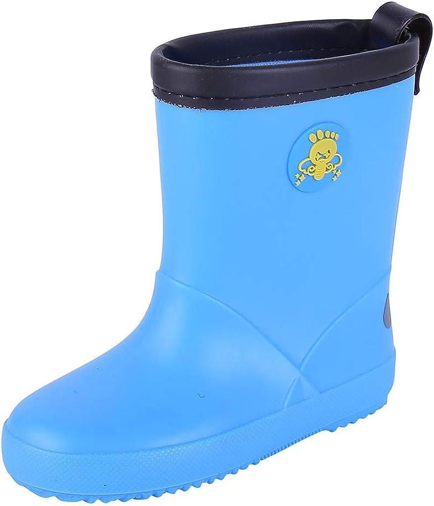 Baby Waterproof Rain Boots,Toddler Infant Kids Baby Boys Girls PVC Rain Boots Waterproof Non-Slip Shoes
