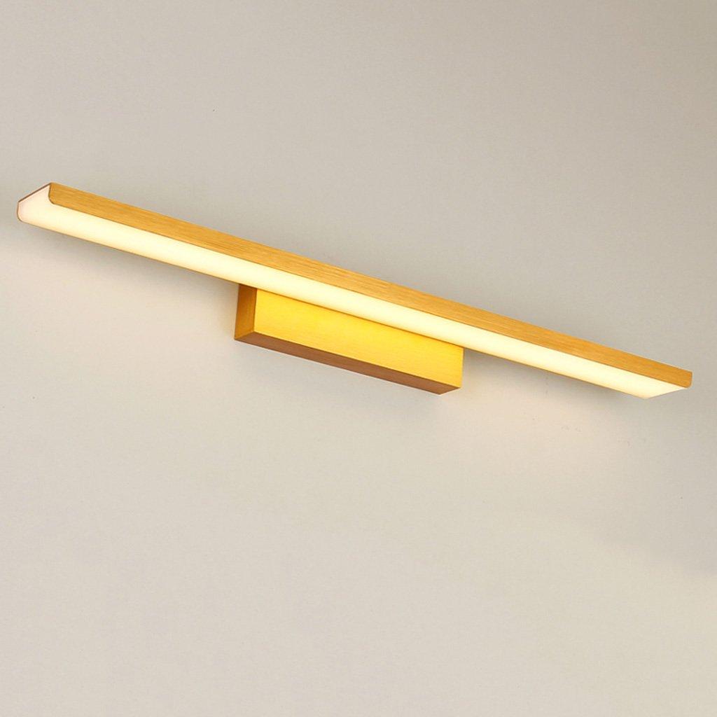 Simple Mirror Light LED, Anti-fog Bathroom Mirror Headlight, Bedroom Mirror Cabinet Light, Acrylic Wall Washer, Bathroom Wash Lamp, Aluminum Lamp Body(Gold) (Size : L61cm Warm light)