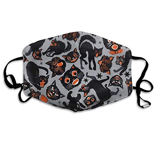 zhigang Halloween Cats Anti-dust Cotton Mouth Face Masks Mouth Cover for Man and -