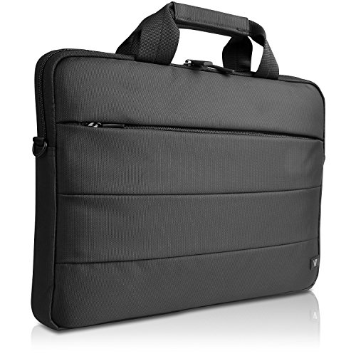 "V7 Cityline 14.1"" Shock and Water Resistant Toploading Notebook Bag for Dell, ASUS, HP, Acer, Toshiba, Apple, Lenovo Ultrabooks - (CTXU6-9N) Black"