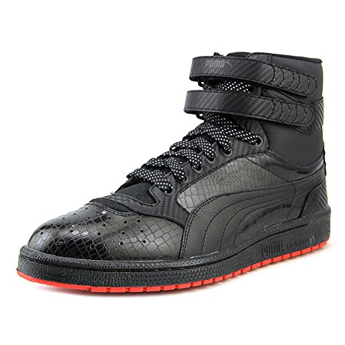 Puma SKY II HI CARBON Men´s Basketball Shoes (10.5, Black/High Risk Red) (Puma Red Shoes All)