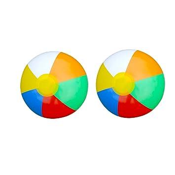 yooe 2 piezas color pelota de playa, playa piscina juego ...