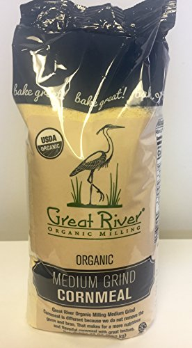 Great River Organic Milling Medium Grind Cornmeal, 24 Ounce (Pack of 4)