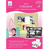 Brand New Colorfast Sew-In Ink Jet Fabric Sheets 8.5''X11'' Bulk-White Brand New coupons 2017