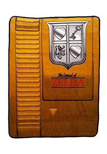 Nintendo Zelda Gold Cartridge Throw Blanket