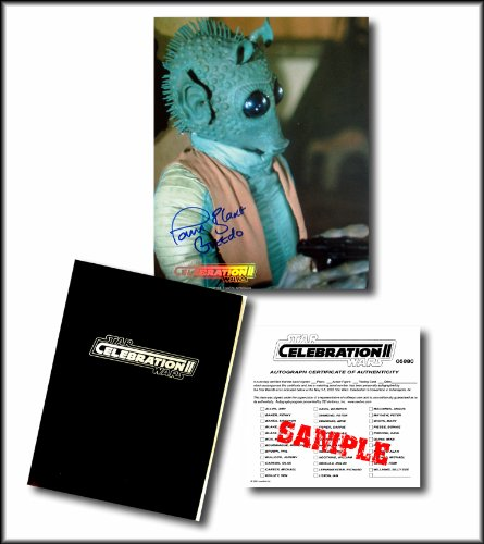 Star Wars Hand Signed Autographed Photo of PAUL BLAKE as GREEDO - from the Star Wars Celebration II Convention (Kit Wars Star Fisto Clone Wars)