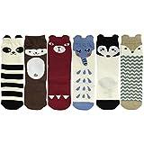ALLYDREW Zoo Animals Tube Socks Toddler Tube Socks & Children Tube Socks (6 pairs), Age 1-3 Years