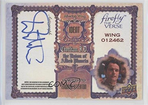 Edward Atterton (Trading Show-card) 2015 Upper Deck Firefly: The Verse - Actor Autographs #EA