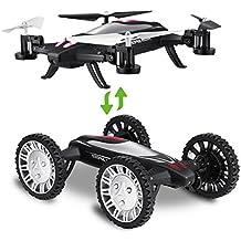 Hi-Tech 2,4GHz 6-Axis RC Car Flying Drone con el modo de coche, Fly, modo headless, 3d Flip
