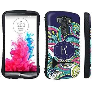 DuroCase ? LG G3 Kickstand Case - (Mint Flower Monogram K)