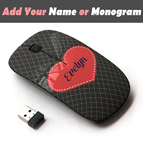 (Personalized Custom Monogram Name Optical 2.4G Wireless Mouse - Chocolate Diamond )