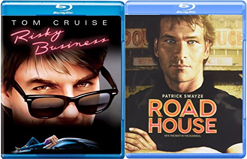 Risky Business & Road House Blu Ray 80's Tom Cruise & Patrick Swayze Movie Bundle Double Feature Movie Set