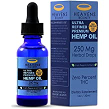 Full Spectrum Hemp Oil by Heaven's Bounty :: Chronic Pain, Anxiety and Inflammation Formulation :: Better Sleep, Healthy Skin, and Smooth Hair :: Peppermint Flavor :: Certified Organic, USA Grown