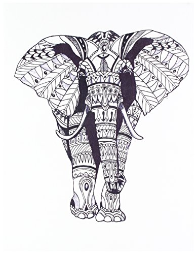 DENIK Soft Leather Sketchbook Ornate Elephant (HBL217B) by Denik