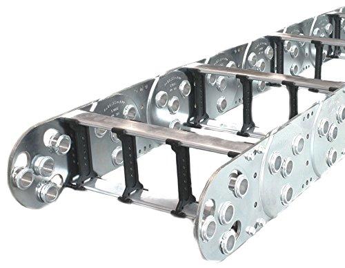 (Kabelschlepp S1800-12.00-RMS-435-2V1, Varitrak, Steel, 1', Open, with 2 Dividers, 14.44x5.5