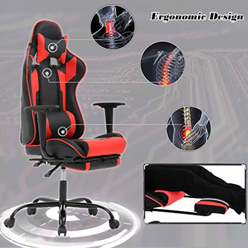 BestMassage Chair Gaming Chair with Footrest, and