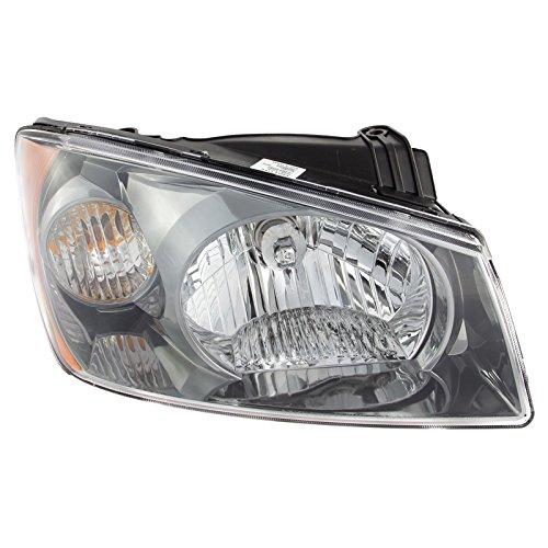 CarPartsDepot Front Bumper Head Light Right Hand Side Fit 04 Kia Spectra Base 4Cyl KI2503117