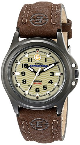 Timex Women's T47042 Expedition Metal Field Olive/Brown Leather Strap Watch