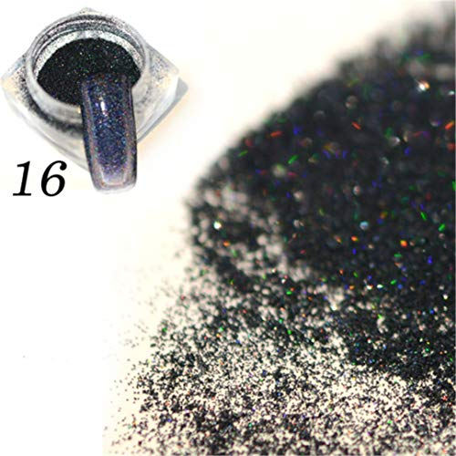 1G Gorgeous Colorful Charm Nail Glitter Powder Holographic DIY Micro Powder Dust Nail Art Decorations Pigment -