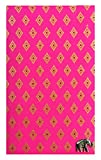 Check Registers Pink & Gold Thai Fabric Guest Check Presenter, Check Holder for Restaurant, Checkbook Cover, Waitstaff Organizer Book, Waitress Server Book, Check Accessories / With Plastic Cover