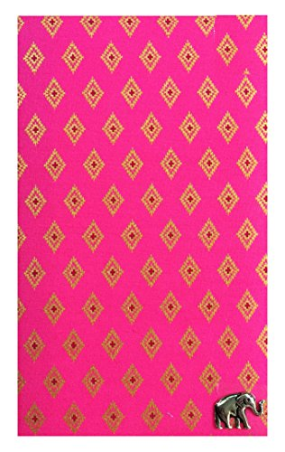 Check Registers Pink & Gold Thai Fabric Guest Check Presenter, Check Holder for Restaurant, Checkbook Cover, Waitstaff Organizer Book, Waitress Server Book, Check Accessories / With Plastic Cover by Kathy