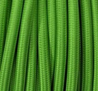 Farbige Elektrokabel textilkabel schilf grün dreiadrig 3 adrig rund 3x0 75mm kabel