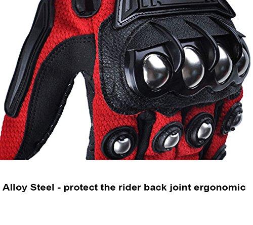 Alloy Steel Bicycle Motorcycle Motorbike Powersports Racing Gloves (X-Large) by AV SUPPLY (Image #6)