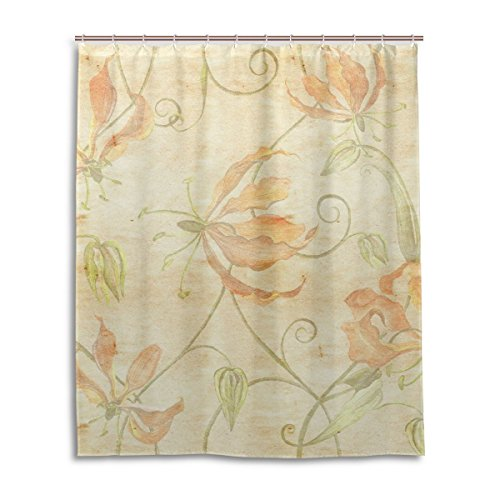 Zzdreamzz Faith Hope Love Coral Peach Waterproof Fabric Polyester Bathroom Shower Curtain 60''(W) X 72''(H) by ZzdreamZz