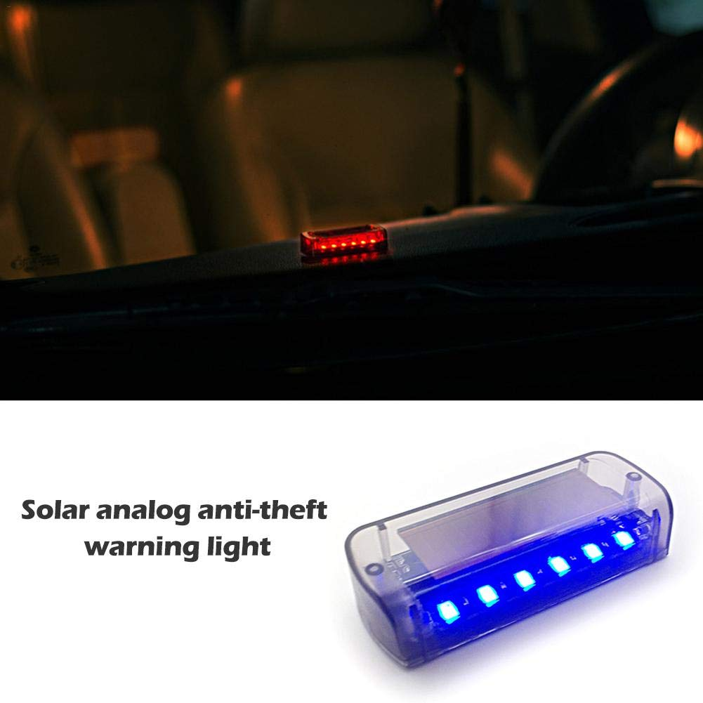 Bettying Solar Power Car Emergency Light Flashing Warning Lights Anti-Theft 6 Flash Modes Flashing Beacon Recovery Strobe Light Bar for Car Vehicle